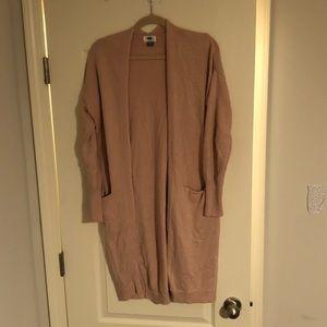 Long tan sweater